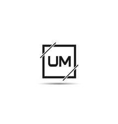 Initial letter um logo template design vector