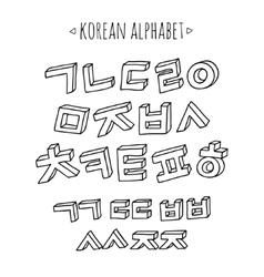 Korean alphabet set vector