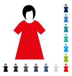 Lady figure icon vector