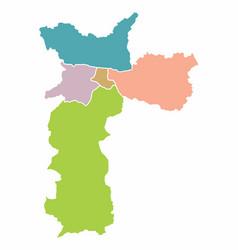 map of sao paulo city vector image