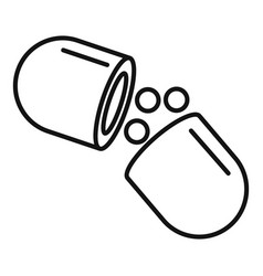 medical capsule icon outline style vector image
