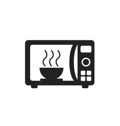 microwave flat icon microwave oven symbol logo vector image
