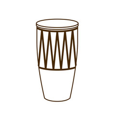 Musical instrument conga on white background vector