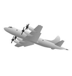 Naval military patrol aircraft vector
