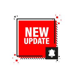 New update red label on white background red vector