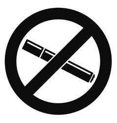 no smoking cigarette icon simple style vector image