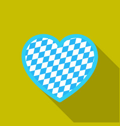 Oktoberfest heart icon in flat style isolated on vector