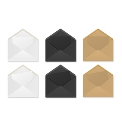 Paper envelopes with sheets vector