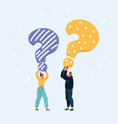 people with a question mark vector image