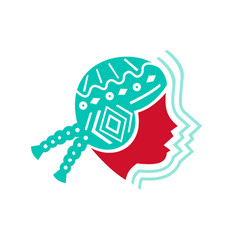 Peruvian girl hat side icon vector