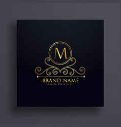 Premium letter m logo concept design with vector