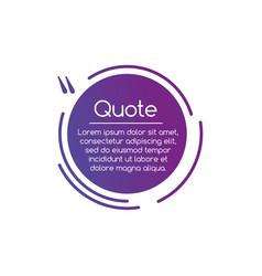 purple circle line quotation mark speech quote vector image