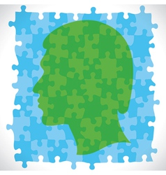 puzzle piece design human head vector image
