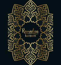 Ramadan kareem golden and marble holiday template vector