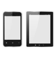 Realistic Digital tablet PC and Mobile phone vector