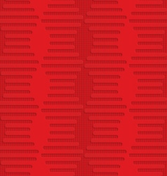 Red hexagonal waves on checkered background vector image
