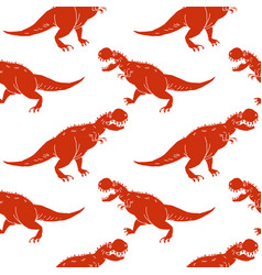 set silhouettes of dinosauranimal vector image