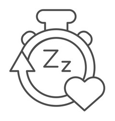 Sleep duration tracker line and solid icon gadget vector