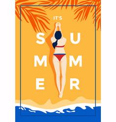 summer background flat design time 3 vector image