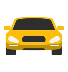Taxi yellow car vector