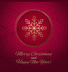 this is a red and gold christmas card vector image