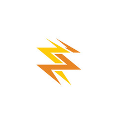 thunderbolt logo icon symbol design element vector image