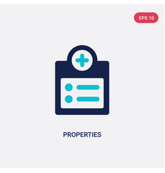 Two color properties icon from geometry concept vector