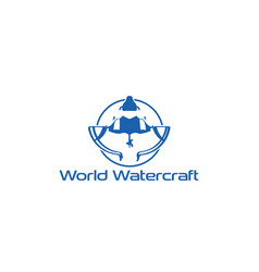 watercraft-logo vector image
