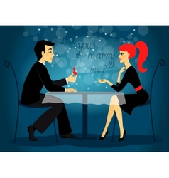Will you marry me marriage proposal vector image