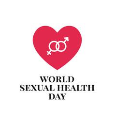 World sexual health day logo badge template vector