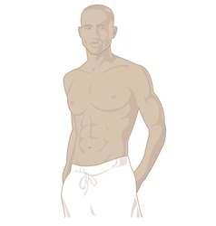 Young african american male vector