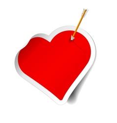 Arrow and heart vector