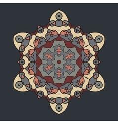 Brown Retro Ornate Mandala Background for greeting vector image