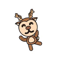 Drawing deer animal character vector