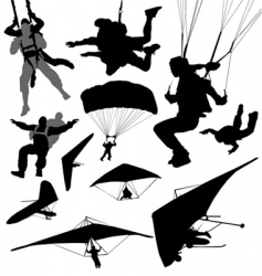 extreme fly sports vector image vector image