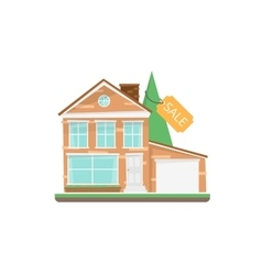 Home For Sale Real Estate Sign vector image
