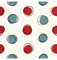 Mid century seamless cirlce pattern vector image vector image