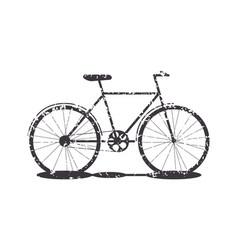 object transport bike grunge silhouette vector image vector image