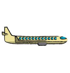 plane transport business travel vector image