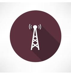 Radio tower icon vector