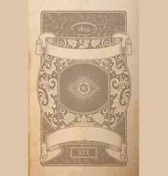 vintage playing cards back design floral vector image