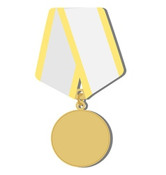 Golden medal vector image vector image