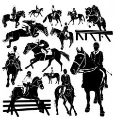 horse equestrian vector image