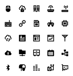 Internet Networking and Communication Icons 5 vector image vector image