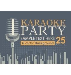Karaoke parties over modern city vector