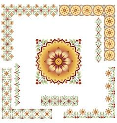 turkish border set vector image