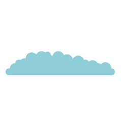 cloud in light blue and white background vector image vector image