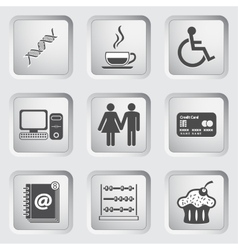 Icons on the buttons for Web Design Set 5 vector image vector image