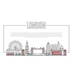 london landmark panorama in linear style vector image vector image