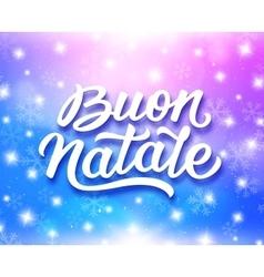 Merry Christmas typography in italian vector image vector image
